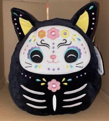 Squishmallow 11 Halloween Zelina The Day Of The Dead Black Cat New