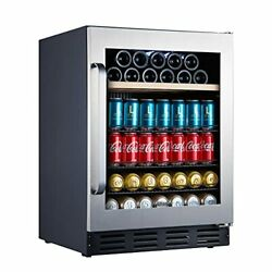 """Mini Fridge 24"""" Beverage And Wine Cooler Built-in Or 120-can + 16 Bottle"""