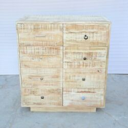 Clovelly Carlton Rustic Mango Wood Chest Of 8 Drawers Tallboy Made To Order