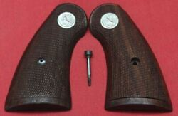 Colt Firearms Factory Python / Officers Model / Official Poli Wood Service Grips