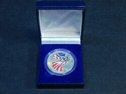 1999 Walking Liberty American Eagle Silver Dollar Colorized Coin Us 1 In Box