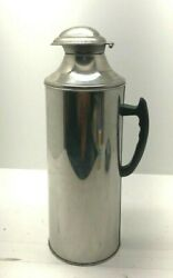 Vintage/ Antique Thermos With Cork Stopper, Stainless Steel, Handle, Pre-owned.
