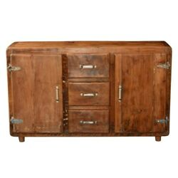 Cormer Farmhouse Rustic Reclaimed Wood 3 Drawer Buffet Sideboard Made To Order