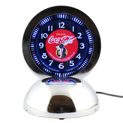 Coca-cola Stand Neon Clock Girl Pjc-dar1 2012 American Style New