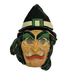 Vintage Collectible 1960s Ben Cooper Witch Halloween Mask 29 Cent Stamp