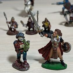 Vtg Pewter Dungeons Dragons Miniatures Figures Ral Partha Unmarked Mix 25 Count