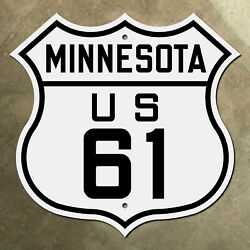 Minnesota Us Route 61 Highway Marker Road Sign Duluth St. Paul 1926 Revisited