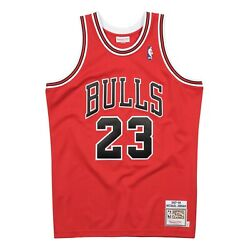 Chicago Bulls Michael Jordan 23 Mitchell Ness Red Road 1997-98 Authentic Jersey