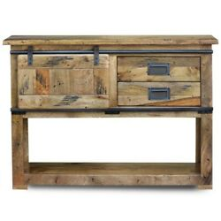Cromer Slider Mango Wood Industrial Console Hall Table Buffet Made To Order