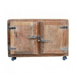 Cromer Solid Wood Blanket Box Trunk Cabinet On Wheels Whitewash Made To Order