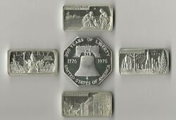 1970's Lombardo Mint Fine Silver Art Bars And Octagon Collection