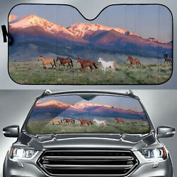 Animal and Graphic Apparel Horse Trot Horse Sunshade for Car Windshield A21908