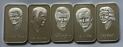 1974 The Music City Mint Fine Silver Art Bars Collection