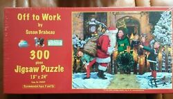 Christmas Puzzle Off To Work By Susan Brabeau 300 Piece 18 X 24 Sealed Nib