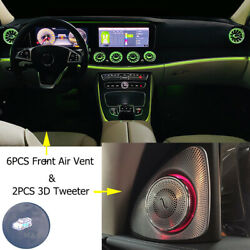 Ambient Light For Mercedes Benz E-class W213 Led Air Vent And 3d Tweeter E300 E63s