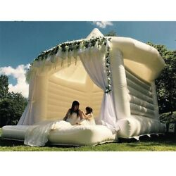 Free Air Shipping To Door White Inflatable Wedding Jumper Bouncer Castle /jumpin