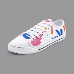 Abstract Leaf And Plant Unisex Low Top Canvas Shoes By The Photo Access