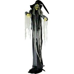 10.6ft Animatronic Witch Life-size Halloween Decoration Haunted Hill Farm