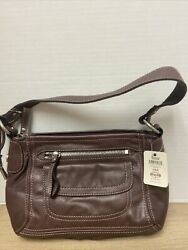 Fossil leather purse brown