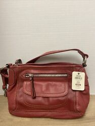 Fossil leather purse red