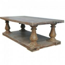 French Provincial Style Pillar Large Coffee Table Rectangle Made To Order