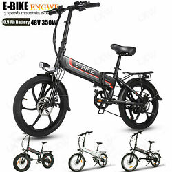 Folding Electric Bike Ebike,@20in.electric Commuter Bicycle With 48v+350w Motors