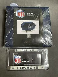 Nfl Dallas Cowboys Grill Cover And License Plate Frame