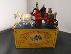 T462-matchbox Models Of Yesteryear Y-4 Shand Mason Horse Drawn Fire Engine And Box