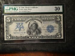1899 5 Silver Certificate Indian Chief Note Pmg 30 Fr280 No Vertical Fold