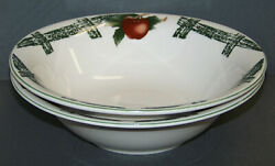 2 Citation Cades Cove Collection Apple And Green Lattice Vegetable Serving Bowls