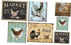 Farmhouse Sign Funny Wall Signs Chicken Coop Country Decor 4pcs chicken Signs