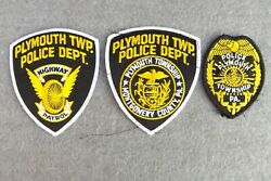Lot 3 Police Patch Plymouth Twp Montgomery County Pa Highway Patrol Patches New