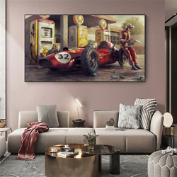 Classical Racing Car Posters And Print Vintage Artwork Canvas Painting Wall Art