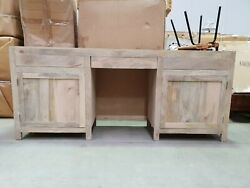 Boston Indian Solid Wood Console Hall Table And Desk Natural Made To Order