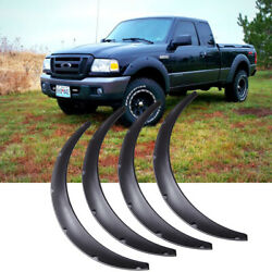 For Ford Ranger Fender Flares Flexible Wide Body Kit Wheel Arches Extension 4.5