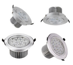 High Power Dimmable/n Led Ceiling Light Frosted Lamp Fixture Recessed Lighting