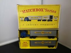 T463-matchbox Major Pack M-9 Cooper Jarrett Inter-state Double Freighter And Box
