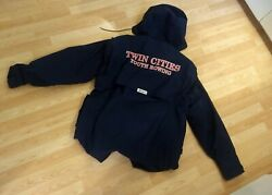 Boathouse Sports Mens Gortex Xl Navy Blue Twin Cities Youth Rowing Jacket.
