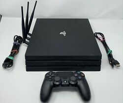 Sony Ps4 Pro Game Console 1tb Playstation 4 Black Controller Upgraded Ssd