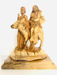 Flight Into Egypt Olive Wood Hand Crafted