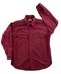 VINTAGE MADE IN USA LL BEAN NORTHWOODS FLANNEL SHIRT size 16 Burgundy