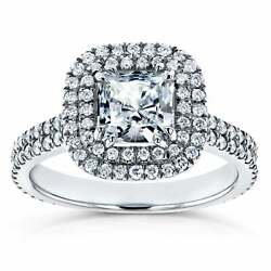 Annello By Kobelli 14k White Gold 7/8ct Forever One