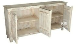 Made To Order Indian Wooden Chest Of Drawers Carved Bleached 180x40x90