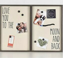 Fetco Home decor 2 PCS Set 18x12 Collage Love You to the Moon and Back NEW