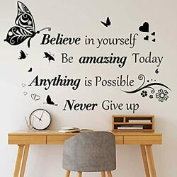 Inspirational Quotes Wall Decals Large Removable Motivational Saying Wall