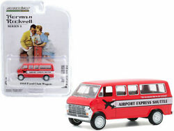 1968 Ford Club Wagon Bus Airport Express Shuttle Red With White Stripe Norma