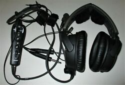 Bose A20 Aviation Headset With Bluetooth Dual Plug Cable - Black