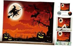 Tapestry Wall Hanging Halloween Lovely Fun Witch Pumpkin Crow Halloween02