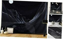 Black Tapestry Wall Hanging Mountain Moon Tapestry Black 59quot; x 51quot; Mountain 2