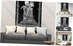 Skull Wall Tapestry the Kissing Lovers Tapestry Wall Hanging Black L 58quot; x 79quot;